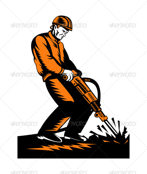 GraphicRiver Construction Worker at Work 5208052