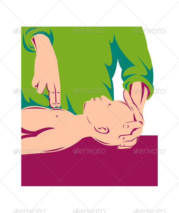 GraphicRiver Adult Performing CPR on an Infant Child 5208109
