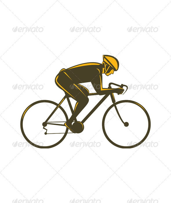 GraphicRiver Cyclist Riding Bicycle Viewed from Side 5208118