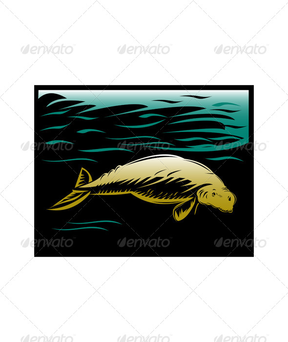 GraphicRiver Dugong Manatee or Sea Cow 5208169