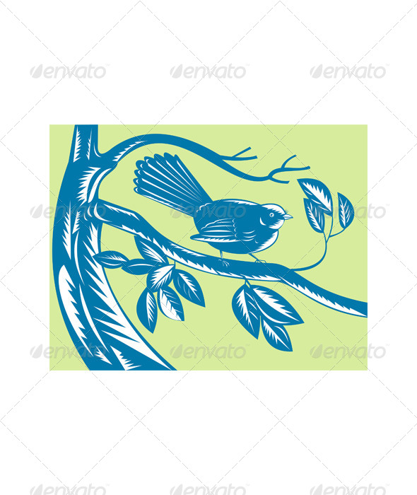 GraphicRiver New Zealand Fantail Bird 5208190