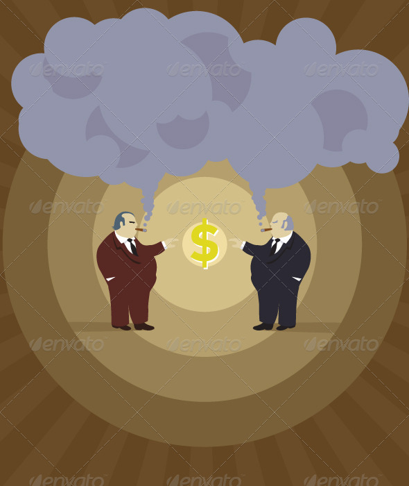 GraphicRiver Retro Big Bosses Making Money 5208196