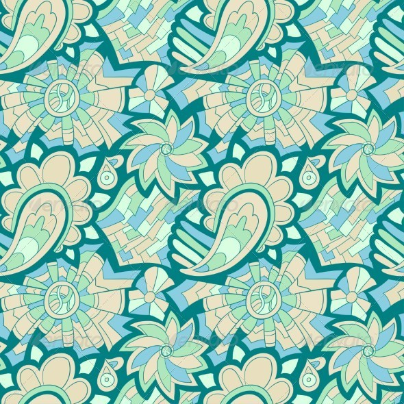 GraphicRiver Seamless Abstract Hand Drawn Pattern 5208755