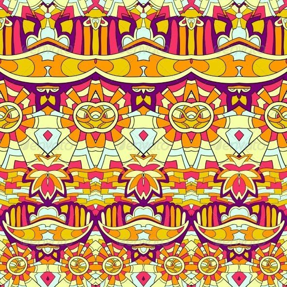 GraphicRiver Seamless Abstract Hand Drawn Pattern 5208782