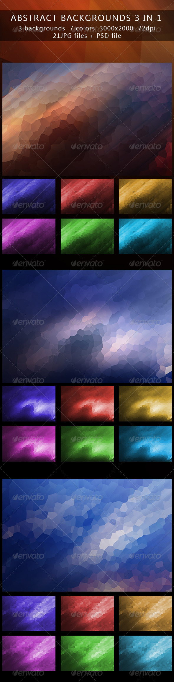 GraphicRiver Abstract backgrounds part 2 3in1 5208800