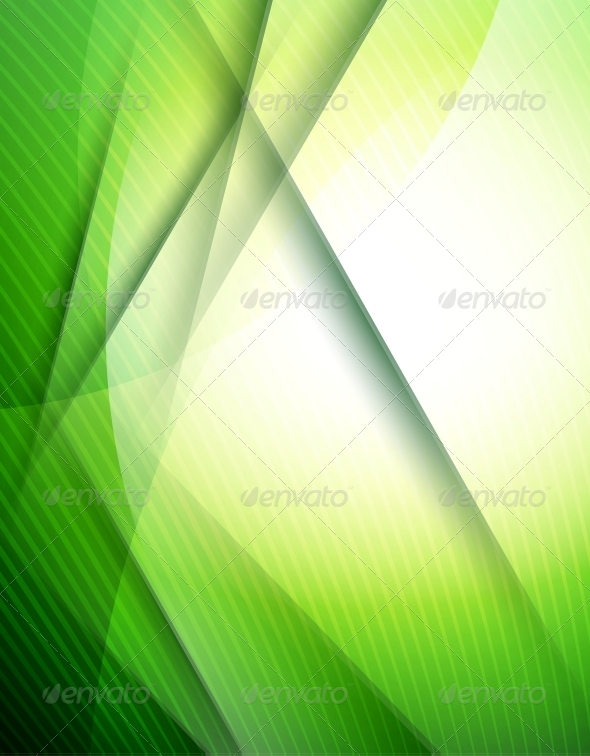 GraphicRiver Abstract Green Lines Design Template 5208884