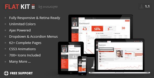FLAT KIT - Premium Web App Template (Admin Templates)