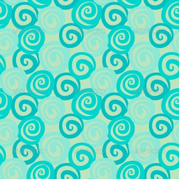 Vintage Abstract Seamless Pattern with Curl