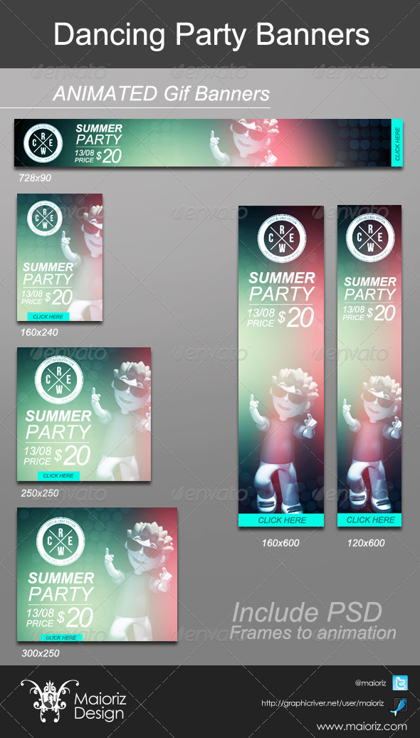 GraphicRiver Dancing Animated Banners 5209258