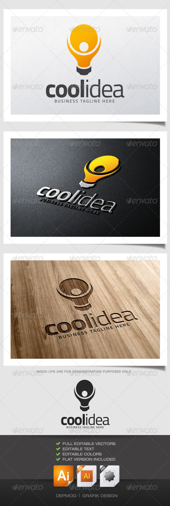 GraphicRiver Cool Idea Logo 5209587