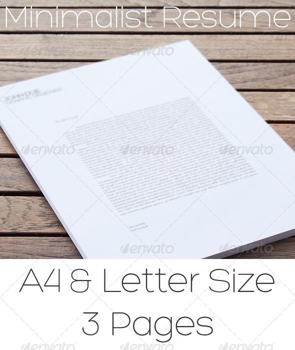 GraphicRiver Minimalist Resume 5209628