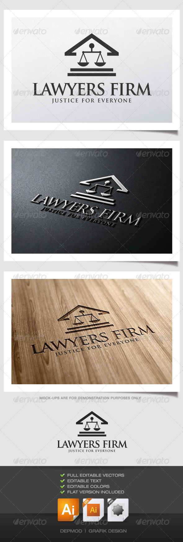 GraphicRiver Lawyers Firm Logo 5209975