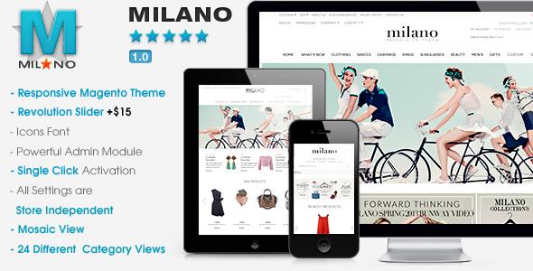 ThemeForest Milano Responsive Magento Theme 5210309