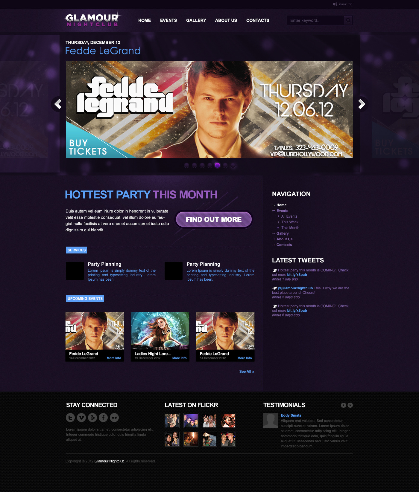 Nightclub WP theme