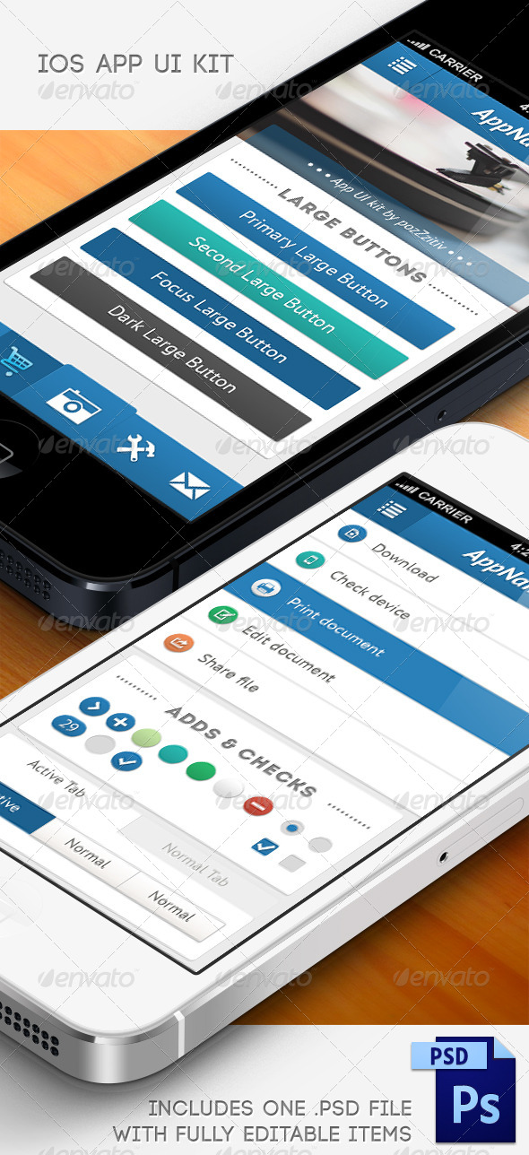 GraphicRiver iOS User Interface Kit 5189212