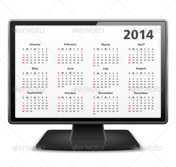 GraphicRiver 2014 Calendar 5210926