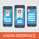 Mobile Login Interface Form - GraphicRiver Item for Sale
