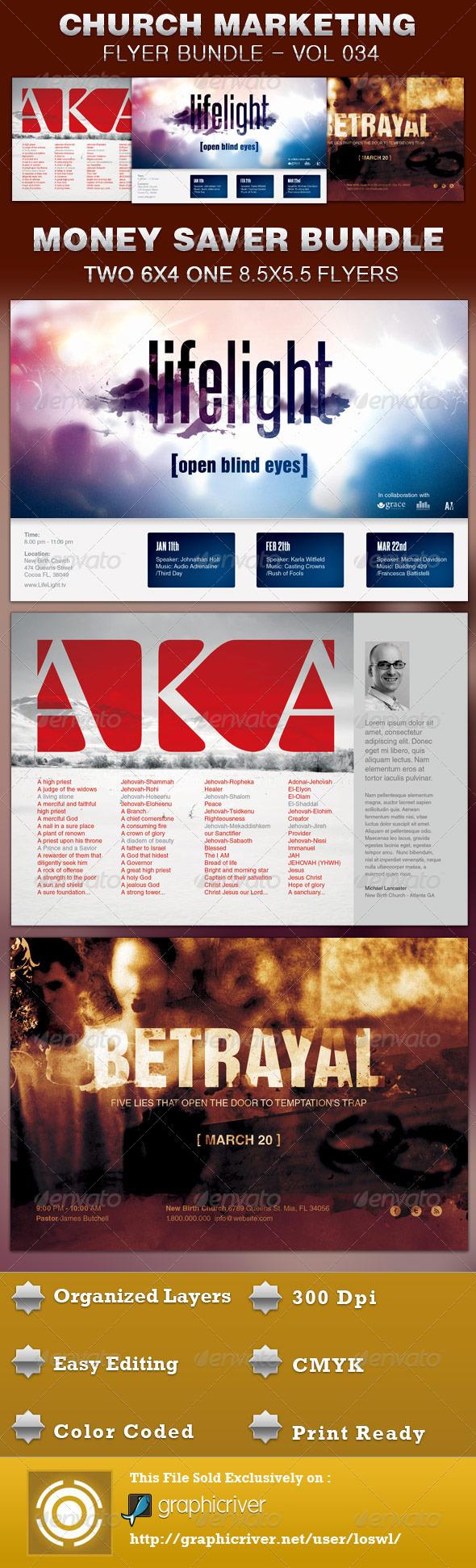Church Marketing Flyer Bundle Vol 034 - Church Flyers