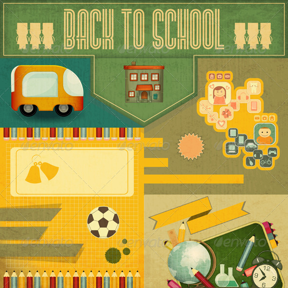 GraphicRiver Back to School Card 5211146