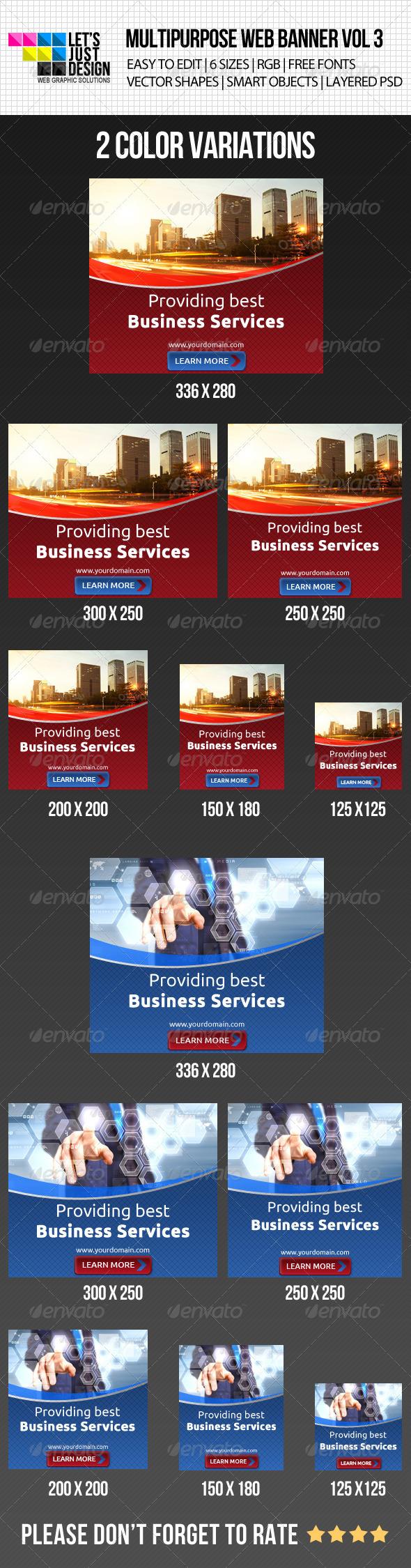 Creative Multipurpose Web Banner Vol 3 - Banners & Ads Web Elements