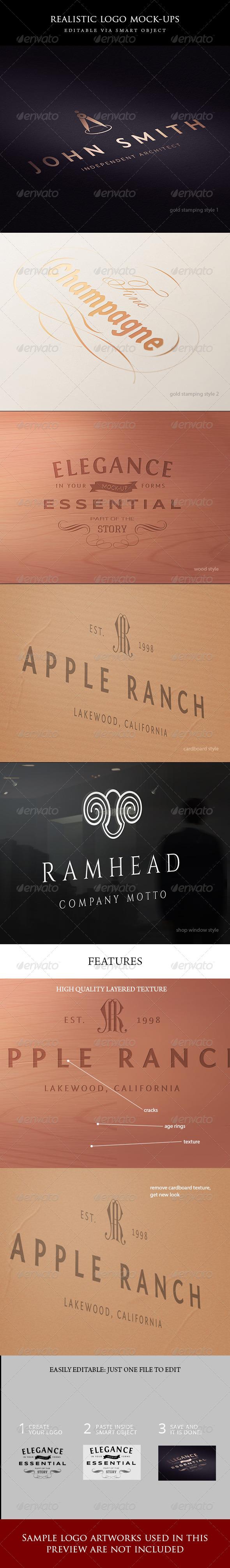 5 logo mock-ups - Logo Product Mock-Ups