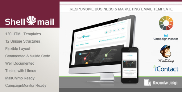 ThemeForest ShellMail Responsive Email Template 5211699