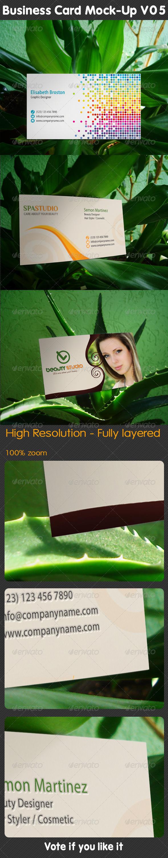 GraphicRiver Business Card Mock-Up V05 5211777