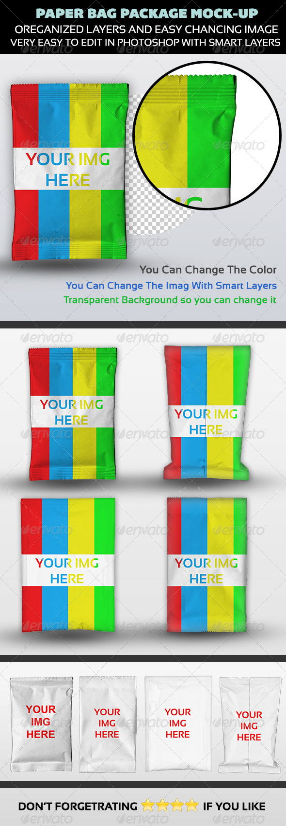 GraphicRiver Paper Bag Package Mock-up 5211835