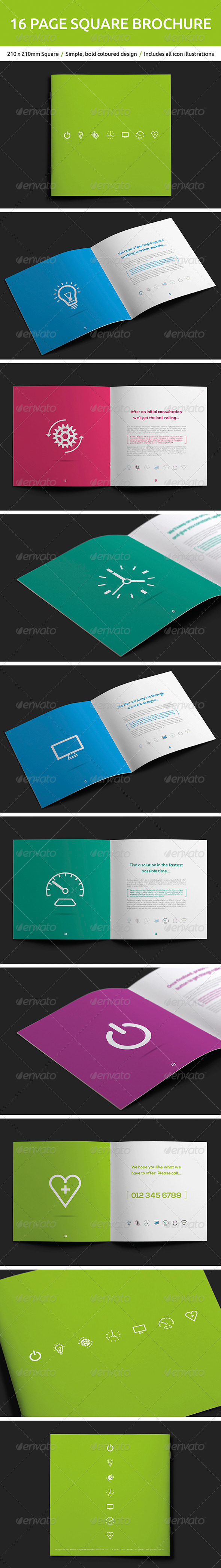 GraphicRiver 16 Page Square Brochure 5211838