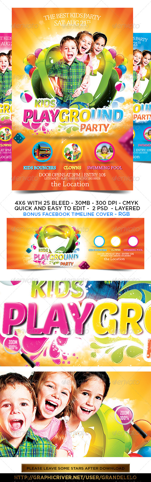 GraphicRiver Kids Party Flyer Template 2.0 5149912