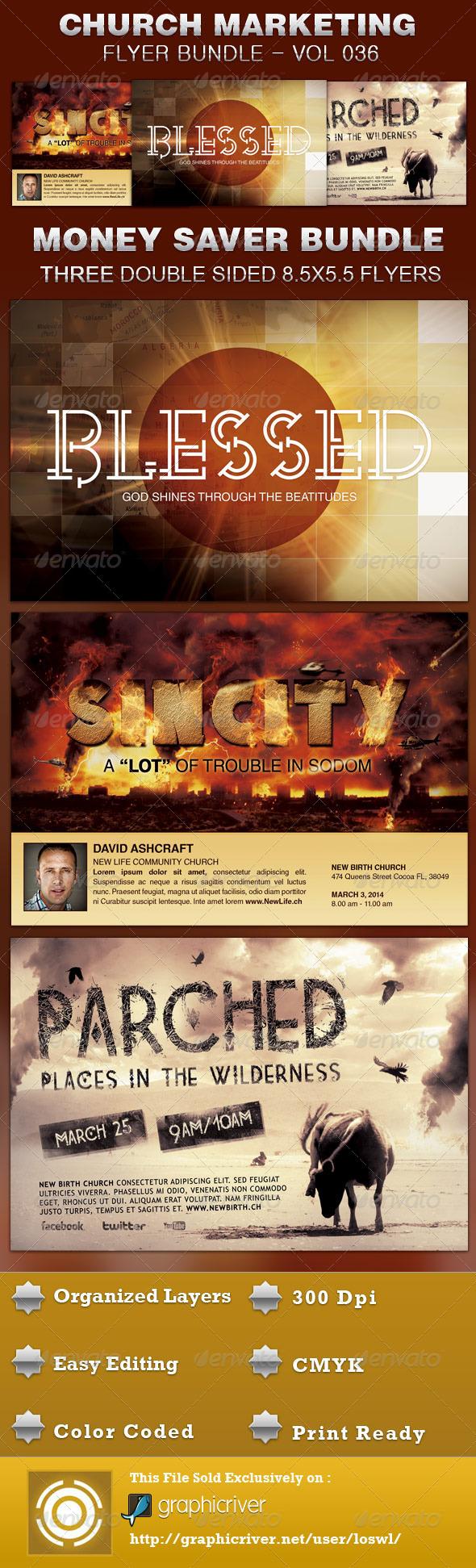 GraphicRiver Church Marketing Flyer Bundle Vol 036 5211949