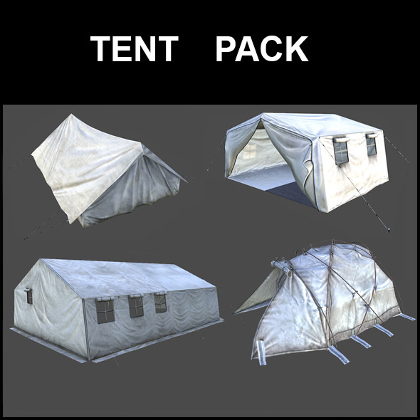 Tent Pack - 3DOcean Item for Sale