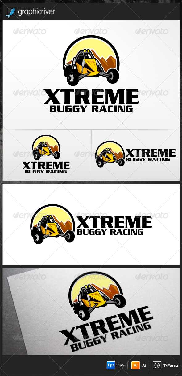 GraphicRiver Buggy Racing Logo Templates 5199295
