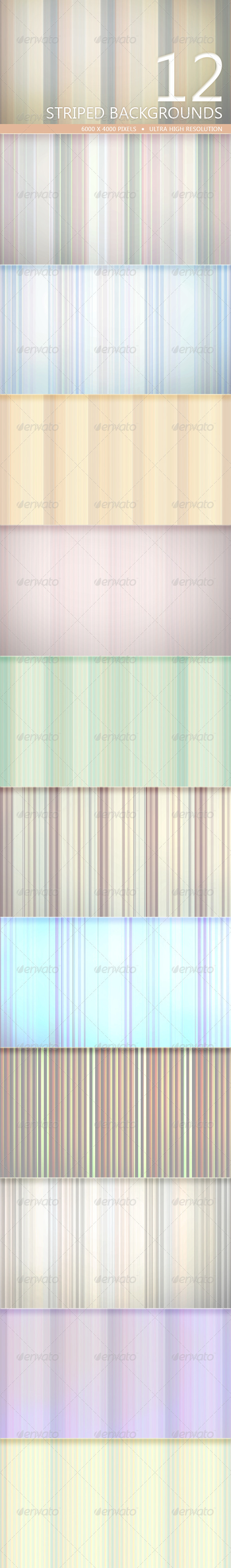 GraphicRiver Striped Backgrounds Volume 1 5212159