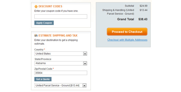 CodeCanyon Magento Checkout Cart Drop Down Shipping Options E 5212182