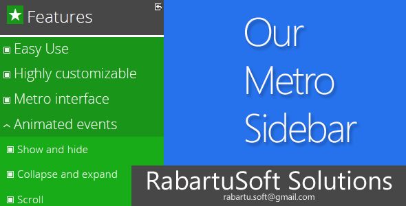 CodeCanyon Our Metro Sidebar 5212305
