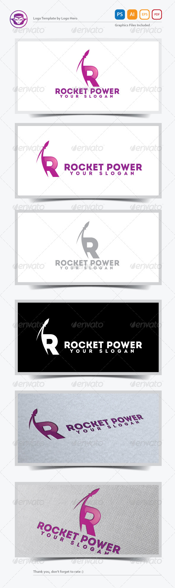 Rocket Power Logo Template