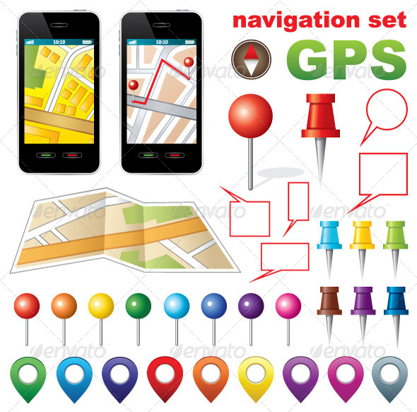 GraphicRiver Navigation Set with Icons GPS 5212351