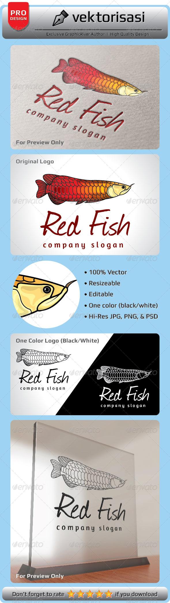 GraphicRiver Red Fish Logo 5199522