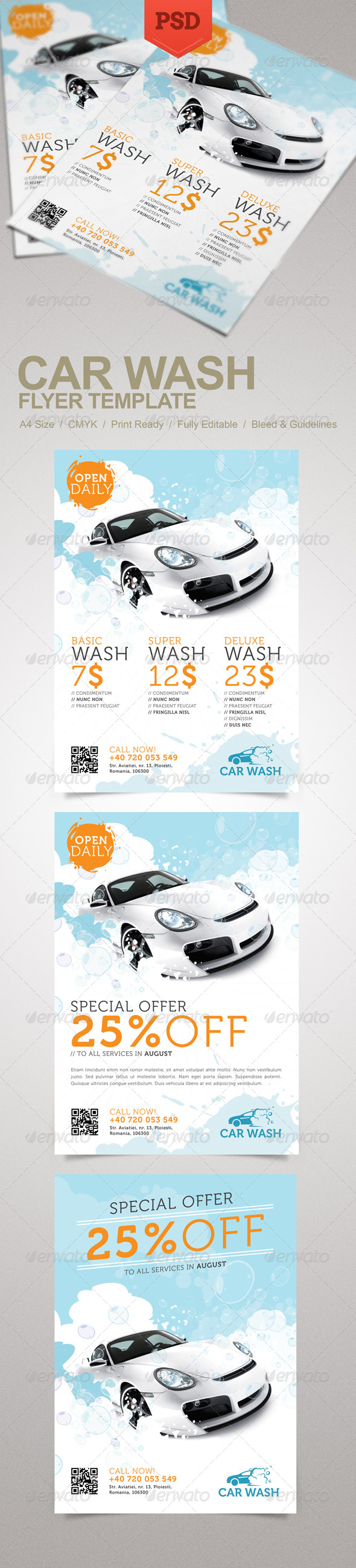 Car wash flyer psd for automotive flyers hot girls wallpaper for Free car wash ticket template