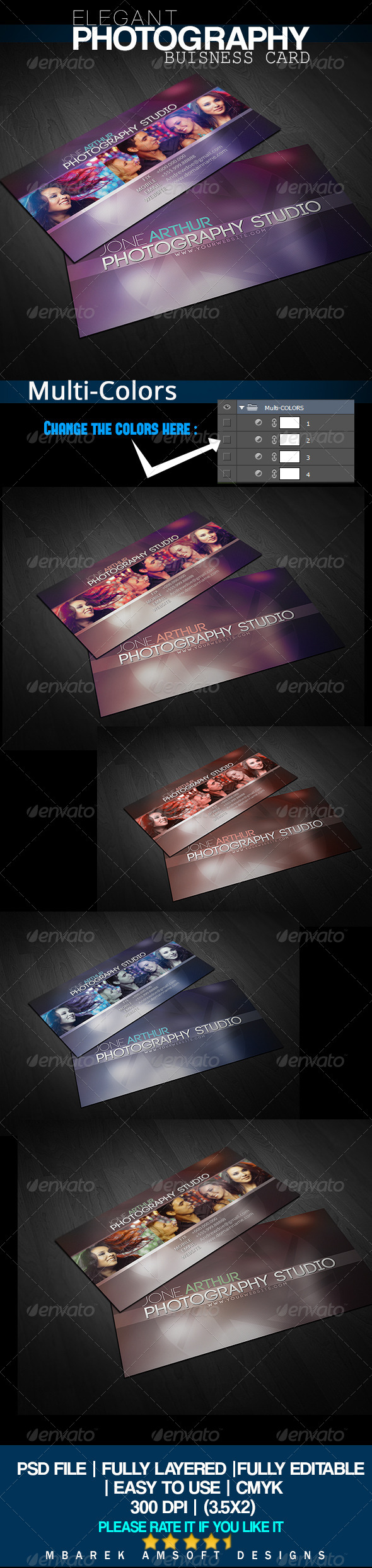 GraphicRiver Elegant Photography business card 5028112