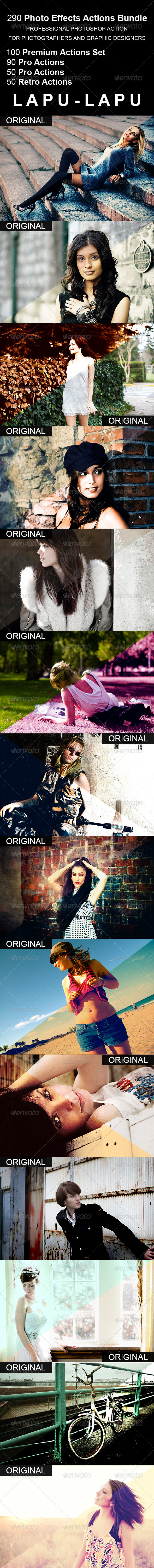 GraphicRiver 290 Photo Effects Actions Bundle 5212389