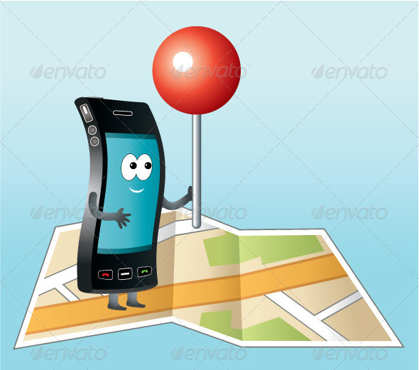 GraphicRiver Smartphone with GPS Icon 5212408