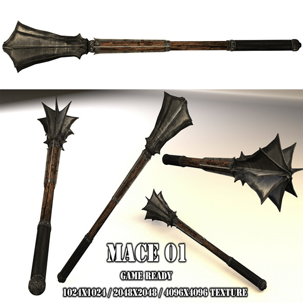 3DOcean Mace 01 5212692