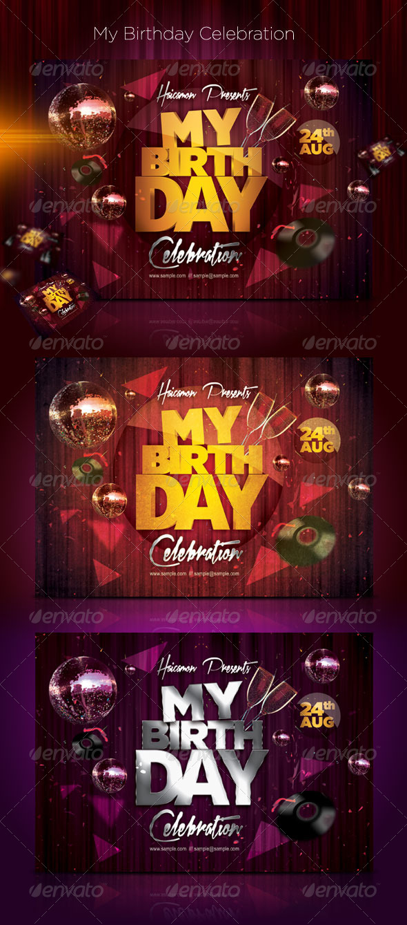 My Birthday Celebration - Flyers Print Templates
