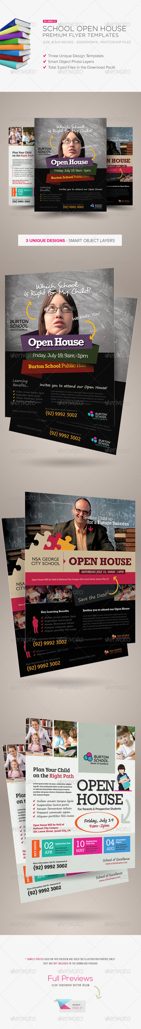 GraphicRiver School Open House Flyers 5212948