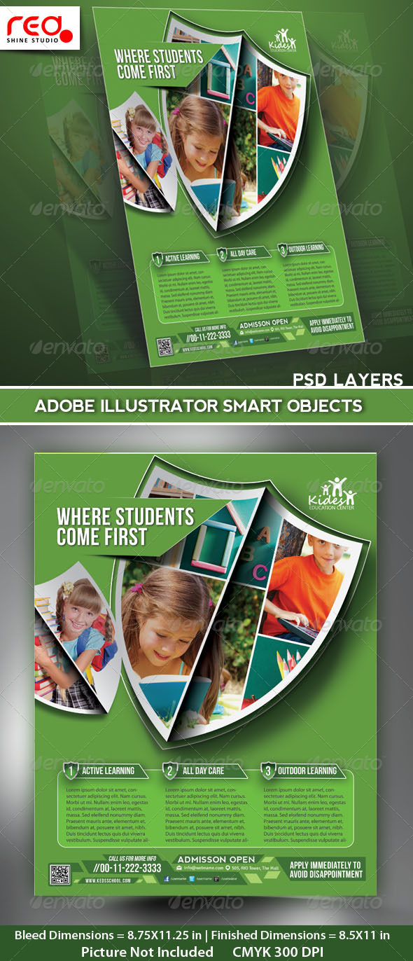GraphicRiver Kids Academy Flyer Poster Magazine Template 5213099