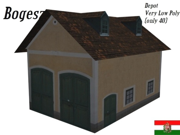 Textured Depot Building (Low Poly) - 3DOcean Item for Sale