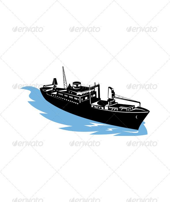 GraphicRiver Cargo Ship at Sea 5213355