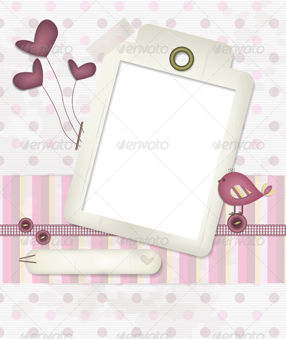 GraphicRiver Baby Scrapbook Background 5213445